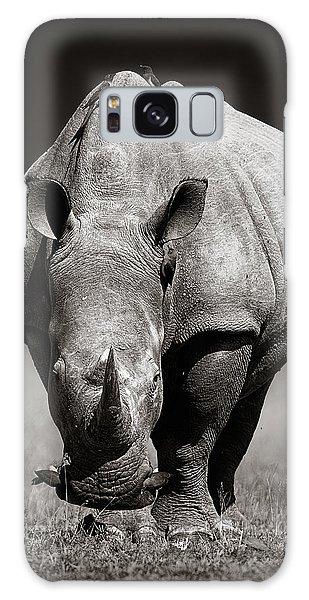 White Rhinoceros  In Due-tone Galaxy Case