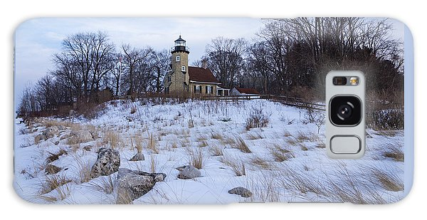 White River Lighthouse In Winter Galaxy Case