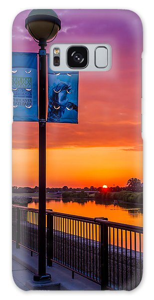 White River Sunset Galaxy Case