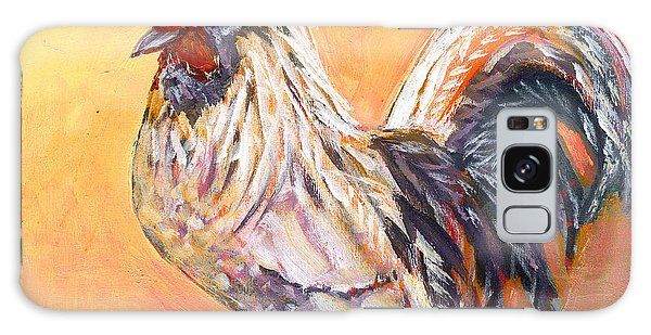 Chicken Galaxy Case - White Rooster by Jennifer Lommers