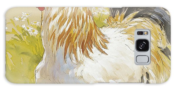 White Rooster Galaxy Case by Tracie Thompson