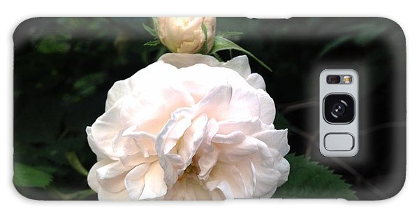 White Rose And Bud Galaxy Case