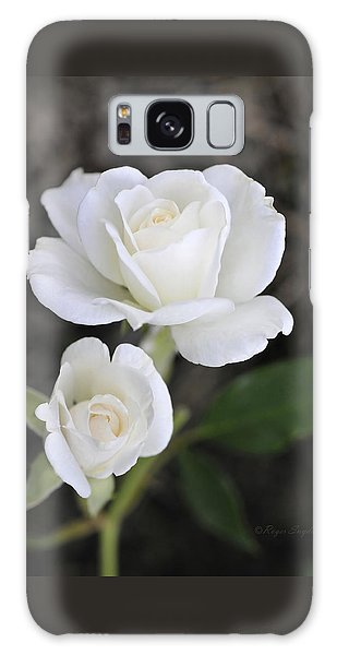 White Rose Duo Galaxy Case