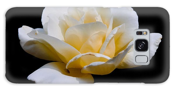 White Rose Galaxy Case by Lisa L Silva