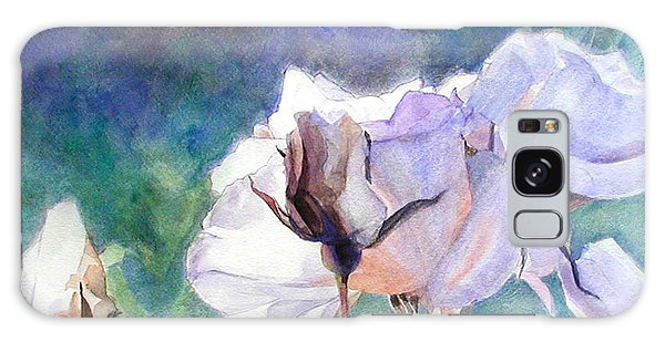 White Roses In The Shade Galaxy Case