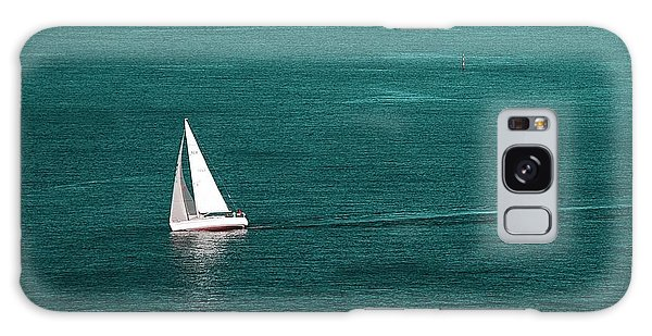 White Sailboat Galaxy Case