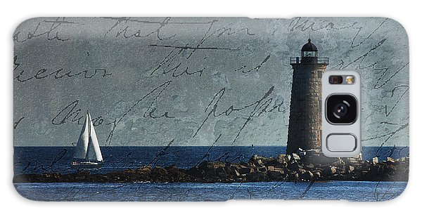 White Sails On Blue  Galaxy Case by Jeff Folger