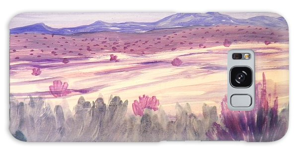 White Sand Purple Hills Galaxy Case by Suzanne McKay