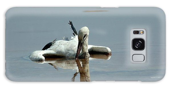Drown Galaxy Case - White Stork Drowning In The Dead Sea by Photostock-israel/science Photo Library