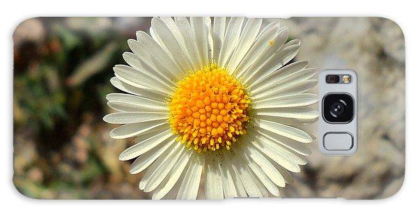 White Wild Flower Galaxy Case
