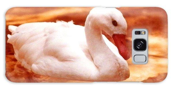 White Water Swan Beauty Galaxy Case by Belinda Lee