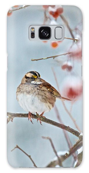 White-throated Sparrow Braving The Snow Galaxy Case