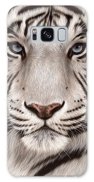 White Tiger Painting Galaxy Case