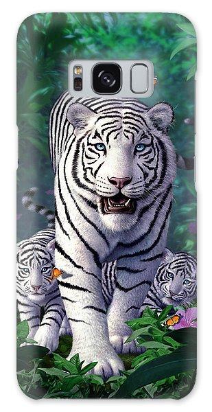 White Tigers Galaxy Case