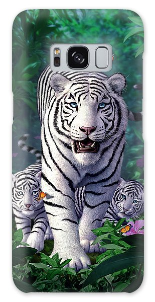 Tiger Galaxy Case - White Tigers by Jerry LoFaro