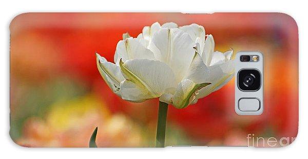 White Tulip Weisse Gefuellte Tulpe Galaxy Case