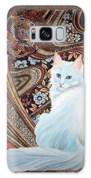 White Turkish Angora Galaxy Case by Leena Pekkalainen