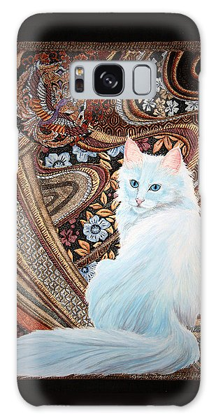 White Turkish Angora Galaxy Case by Leena Pekkalainen