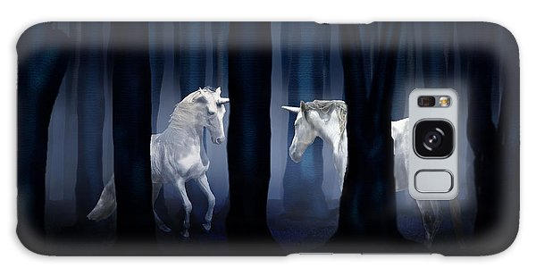 White Unicorns Galaxy Case