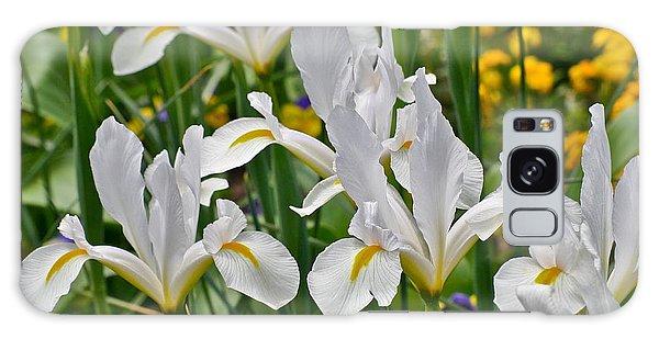 White Van Vliet Iris Galaxy Case
