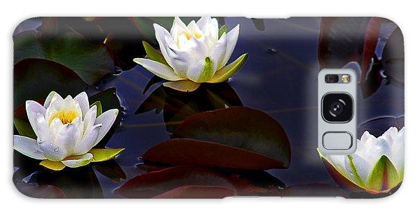 White Water Lilies Galaxy Case by Nina Ficur Feenan