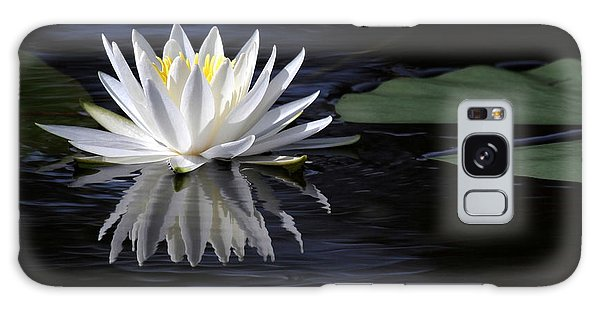 White Water Lily Left Galaxy Case