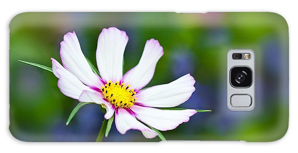White Wildflower Galaxy Case by Joan Herwig
