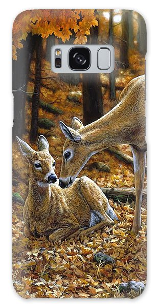 Deer Galaxy S8 Case - Whitetail Deer - Autumn Innocence 2 by Crista Forest