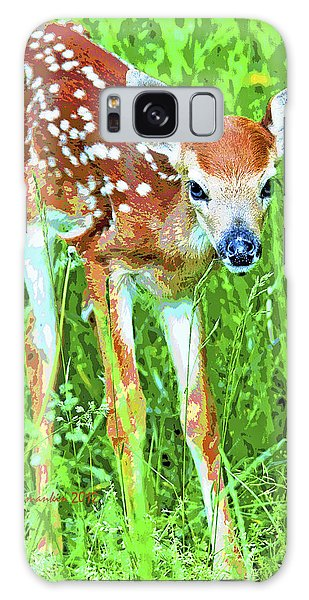 Galaxy Case - Whitetailed Deer Fawn Digital Image by A Gurmankin