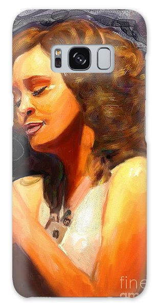 Whitney Gone Too Soon Galaxy Case by Vannetta Ferguson
