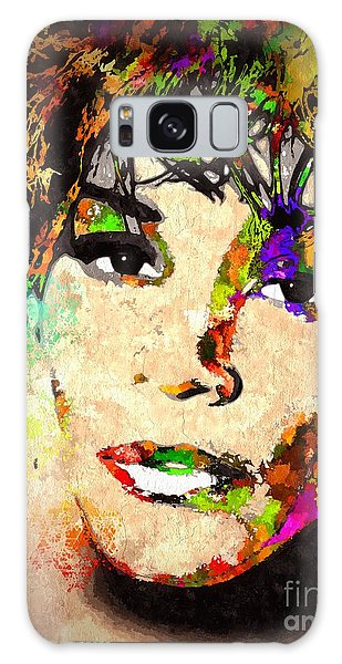 Whitney Houston Galaxy Case by Daniel Janda