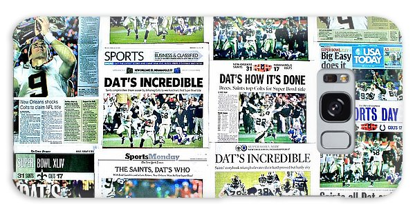 Who Dat Headlines Galaxy Case