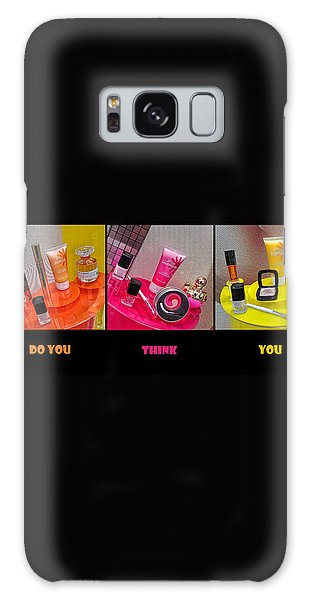 Galaxy Case featuring the photograph Who Do You Think You Are ? by Stwayne Keubrick