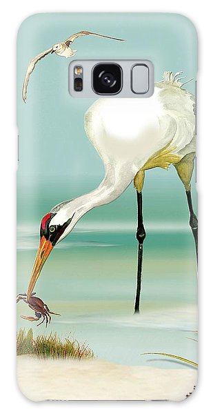 Whooping Crane In Color Galaxy Case