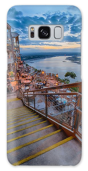Wide Angle View Of The Oasis And Lake Travis - Austin Texas Galaxy Case