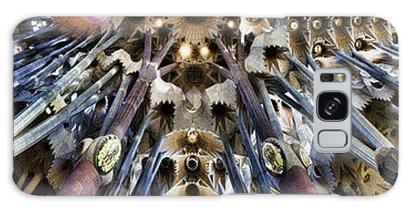 Wide Panorama Of The Interior Ceiling Of Sagrada Familia In Barcelona Galaxy Case by David Smith