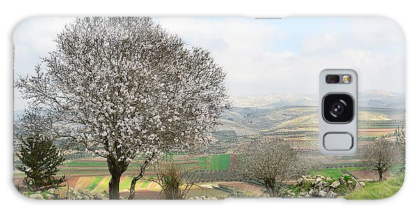 Wild Almond Tree In Beautiful Scenery Galaxy Case