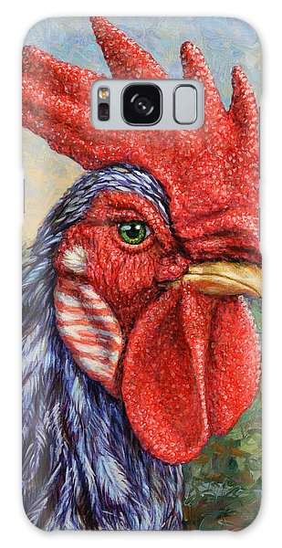 Chicken Galaxy Case - Wild Blue Rooster by James W Johnson