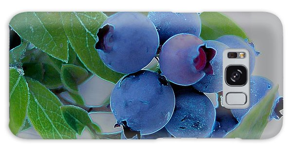 Wild  Blueberries Galaxy Case by Shirley Sirois