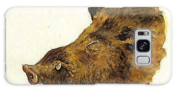 Pig Galaxy Case - Wild Boar Head Study by Juan  Bosco