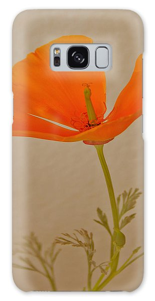 Wild California Poppy No 1 Galaxy Case