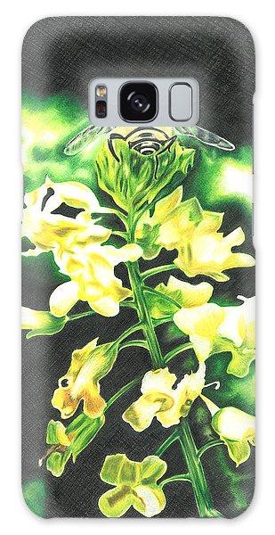 Wild Flower Galaxy Case by Troy Levesque