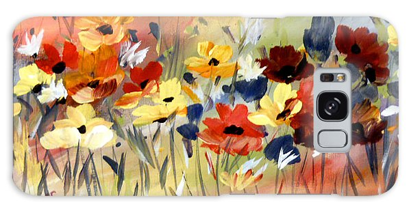 Wild Flowers Galaxy Case by Dorothy Maier