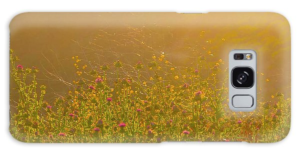 Wild Flowers With Webs Galaxy Case