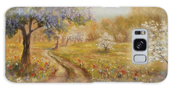 Wild Garden Path Galaxy Case