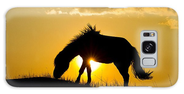 Wild Horse And Setting Sun Galaxy Case