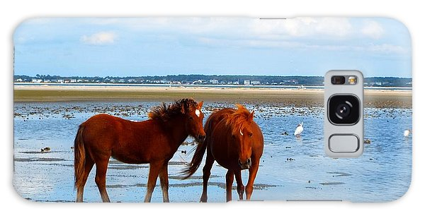 Wild Horses And Ibis 2 Galaxy Case by Cindy Croal