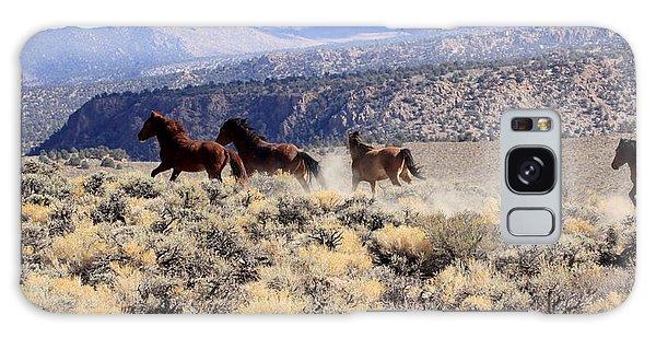 Wild Horses Iv Galaxy Case