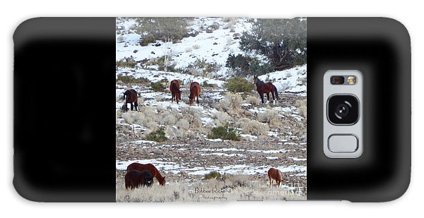 Wild Mustangs In A Nevada Winter Galaxy Case