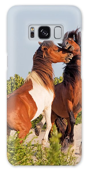 Wild Ponies At Play Galaxy Case